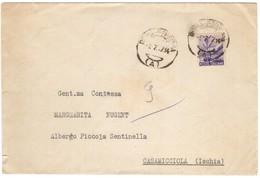 IZ674   Busta Ministero Dei Trasporti 1947 Per Casamicciola Affrancata Democratica L. 6 Isolato - 1946-60: Marcofilie