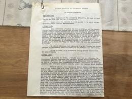 Récit Tapuscrit D'époque Mort Du Lieutenant Pujebet 3° Dragons 1940 3 Pages - 1939-45