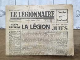 Rare Journal Le Légionnaire LFC état Français La Légion Et Les Juifs Octobre 1942 - 1939-45