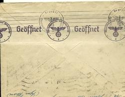 Enveloppe Avec Cachet Allemand Geöffnet (prisonnier) De 1940 - Lettres