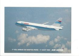 24560 - Air Inter 1er Vol Airbus 320 Nantes-Paris 1er Août 1988 - 1946-....: Ere Moderne