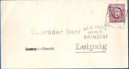 Dutch Indies 1894 25c Post Stat. Env Willem III From Kotaradja To Senf In Leipzig By NI Postagent Penang - 1911.2805 - Indes Néerlandaises