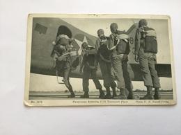 Carte Postale Parachutistes Américains Embarquant Propagande US WW2 - 1939-45