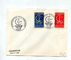 Lettre Cachet Paris Exposition Cept Sur Europa - Postmark Collection (Covers)
