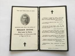 Carte Avis De Décès D'un Alsacien De Durrenbach 220°CM Mort à Rambervillers 1939 - 1939-45