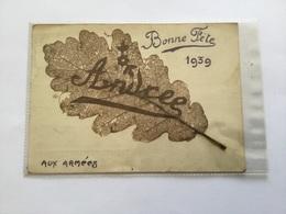 Carte Avec Feuille D'arbre Artisanat Fête De 1939 Aux Armées - 1939-45