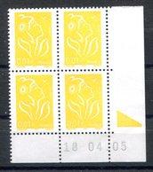 RC 16867 FRANCE N° 3731 COIN DATÉ MARIANNE DE LAMOUCHE 18.04.05 NEUF ** TB MNH VF - Coins Datés