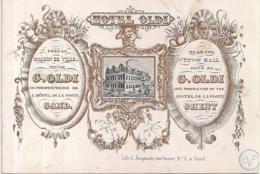"GAND-GENT""HOTEL OLDI""LITH.JACQMAIN-117/83MM - Cartes Porcelaine"