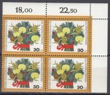 BERLIN 481,  4erBlock Eckrand Oben Rechts, Postfrisch **, Weihnachten 1974 - Berlin (West)