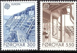 (!) Timbres EUROPA CEPT FEROE  De 1987  N° Y&T  143/144 Thème Architecture  Neuf(s) ** Mnh LUXE - 1987