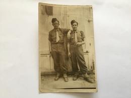 Carte Photo 2 Soldats Du 1° Rgt D'artillerie Coloniale France Libre 1°DFL 1944 - 1939-45