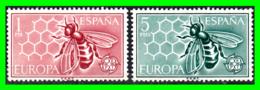 ESPAÑA  SERIE DE 2 SELLOS AÑO 1962 EUROPA CEPT - 1961-70 Nuevos & Fijasellos