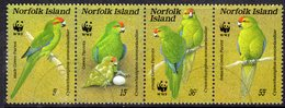 Norfolk Island 1987 Endangered Species Parakeet Bird Strip Of 4, Used, SG 425/8 (BP2) - Norfolk Island