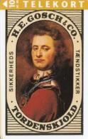 Denmark, JP 032, H. E. Gosch & Co, Peter Wessel, Tordenskjold, Matches, Mint, Only 3.000 Issued, 2 Scans. - Denemarken