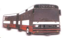 L275 Pin's Bus Autocar Autobus Car Setra Communal Double Superbe Qualité EGF Achat Immédiat - Transportation