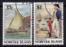 Norfolk Island 1988 Bicentenary Of Settlement V Set Of 2, Used, SG 436/7 (BP2) - Norfolk Island