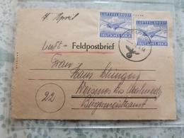 Luft Feldpost Envoyé à Waimes Malmedy 1944. - Lettres