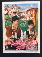 1939 - Kaart - Film LAUREL & HARDY - Les Montagnards Sont La! CINÉAP - LA LOUVIÈRE - L'ELDORADO - Blystone - Lind - Afiches & Pósters