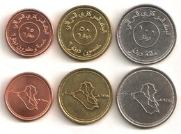 Iraq - Set 3 Coins 25 50 100 Dinars 2004 UNC / AUNC Lemberg-Zp - Iraq