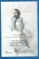 CPM Mode Publicité Mariage LETZ Martin Couture Paris Robe De Mariée Sur Mesure Rue Raymond Boulanger Paris 11ème - Moda