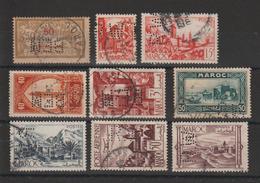 Maroc Lot De 9 Timbres Perforés BEM RW - Maroc (1891-1956)