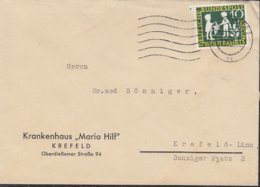 BRD 323 EF, Auf Ortsbrief, Stempel: Krefeld 3.11.1959, Märchen Sterntaler - Lettres & Documents