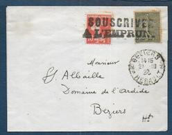 Semeuses Oblitérées SOUSCRIVEZ A L' EMPRUNT Sur Bande  D'imprimé - 1877-1920: Semi-Moderne