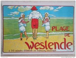 WESTENDE MIDDELKERKE : Historische Affiche Repro (postkaartformaat) - Westende