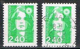 FRANCE : N° 2820 ** Et Oblitéré (Marianne Du Bicentenaire) - PRIX FIXE : 1/3 De La Cote - - 1989-96 Maríanne Du Bicentenaire