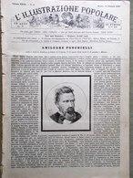 L'illustrazione Popolare 24 Gennaio 1886 Sardegna Toselli Ponchielli Tamigi Roma - Ante 1900