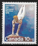 Canada 1976. Scott #B11 (MNH) Montreal Olympic Games, Vaulting - Unused Stamps