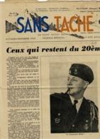 """Revue 10 Pages, Format 25 X 36 Cm Pliée Au Centre """"Sans Tâche"""" Ceux Qui Restent Du 20ème - Octobre/Novembre 1948 - Revues & Journaux"""