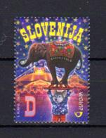 Slovénie 2002, Europa, Le Cirque, 368 **, Cote 12 €  Elephant Circus - Slovénie