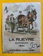 13382 -  La Rueyre Burignon 1941 J.Wursten-Séchaud Chexbres - Etichette