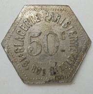 JETON DE NECESSITE GLACERIE PARISIENNE 50 Centimes - Monétaires / De Nécessité