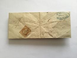 Lettre Avec Timbre 10 C Napoléon III Sommieres Gard 1867 - Marcophilie (Lettres)