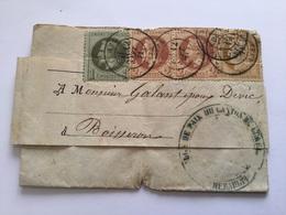 Lettre Avec Timbres Napoléon III Boisseron Gard Juge De Paix - 1849-1876: Période Classique