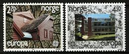 (!) Timbres EUROPA CEPT NORVEGE De 1987  N° Y&T  921/922 Thème Architecture  Neuf(s) ** Mnh LUXE - 1987