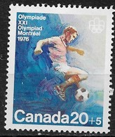 Canada 1976. Scott #B12 (MNH) Montreal Olympic Games, Soccer - Unused Stamps