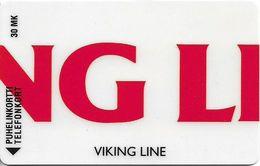 Finland (Turku) - Magnetic - Viking Line 1 - Cn. 0020 - D99B, 30mk, Exp.12.1995, 4.000ex, Used - Finlande