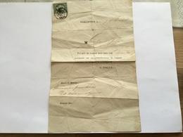 Lettre Avec Timbre Napoléon III Boisseron Gard - 1849-1876: Période Classique