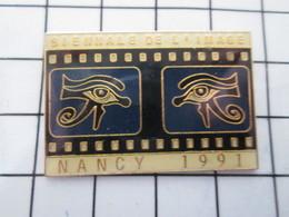 1016c Pin's Pins / Beau Et Rare / THEME : CINEMA / NANCY 1991 BIENNALE DE L'IMAGE - Cinéma