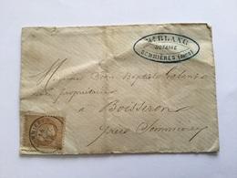 Lettre Avec Timbre Napoléon III Sommieres Gard - 1849-1876: Période Classique