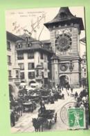 BERNE Ou BERN - Zeitglockenturm - Mittags 12 Uhr - Superbe Plan Animé - TBE - 2 Scans - BE Berne