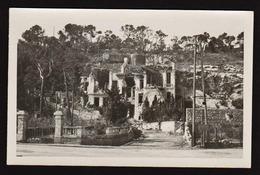 MENTON: Occupation Italienne En 1940: Destruction De La Chapelle De La Madone. RARE Carte Photo écrite. SUPERBE - Menton