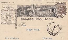 PADOVA-EDOARDO PESSI- CARTOLINA PUBBLICITARIA-VIAGGIATA IL 10-4-1926 - Padova (Padua)