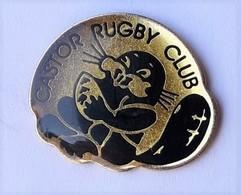 A120 Pin's Rugby CASTOR CLUB Devèze (rccd) à BEZIERS Hérault Achat Immédiat - Rugby
