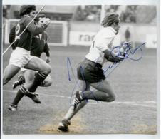 RUGBY ANNEES 70 AUTOGRAPHE ORIGINAL GAUDON SUR TIRAGE PHOTO D'EPOQUE SCANS - Rugby