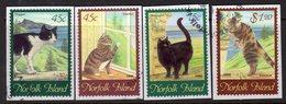 Norfolk Island 1998 Cats Set Of 4, On Piece, Used, SG 658/61 (BP2) - Norfolk Island
