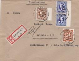 Allemagne Bizone Lettre Recommandée Ulm 1946 - Bizone